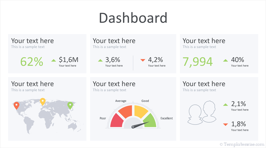 Dashboard Powerpoint Template Templateswise Com