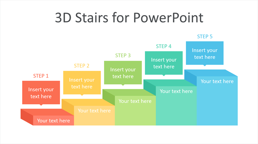 3d Stairs Powerpoint Template Templateswise Com