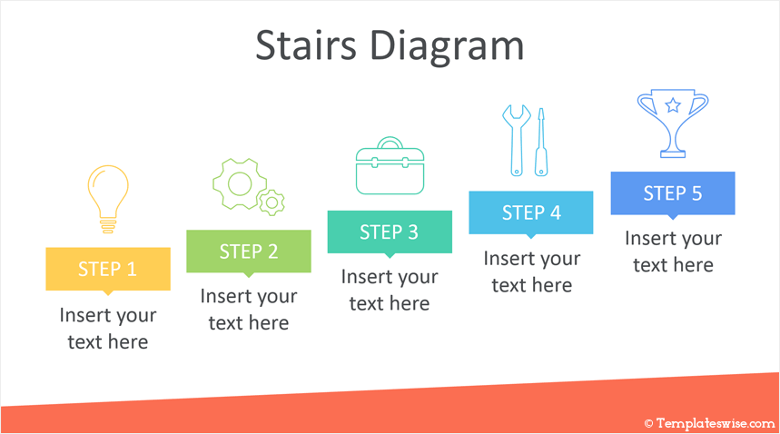 Stairs Diagram Powerpoint Template Templateswise Com