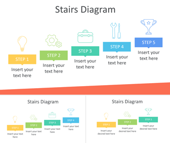 Stairs Diagram PowerPoint Template