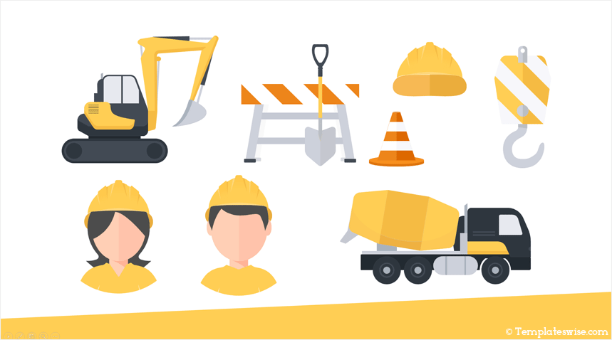 Construction Icons For Powerpoint Templateswise Com