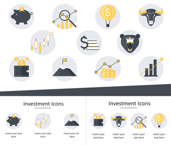 Investment Icons for PowerPoint