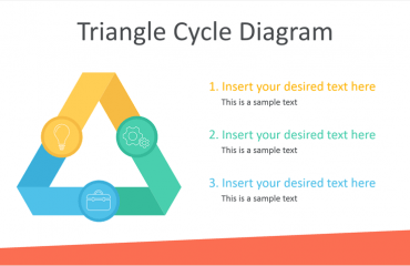 Triangle Cycle Diagram for PowerPoint