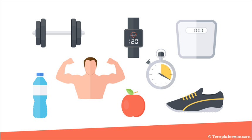 Fitness Icons for PowerPoint - Templateswise com