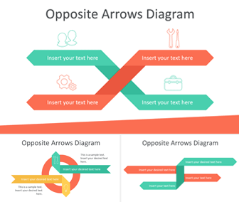 Opposite Arrows PowerPoint Diagrams