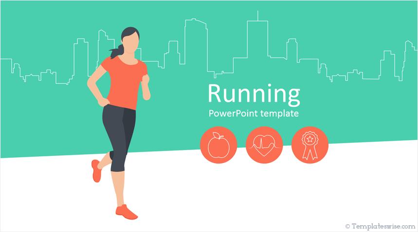 Running Powerpoint Template Templateswise Com
