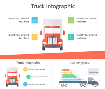 Truck Infographic for PowerPoint