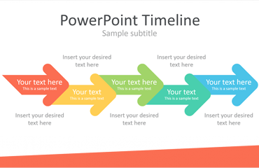 PowerPoint Timeline with Arrows
