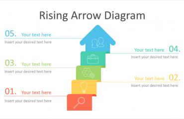Rising Arrow PowerPoint Diagram