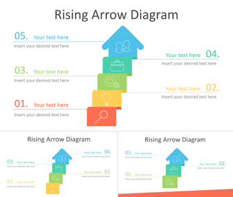 Rising Arrow PowerPoint Diagram