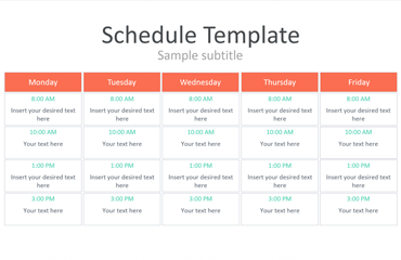 Schedule PowerPoint Template