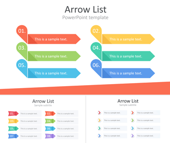 Arrow List PowerPoint Template