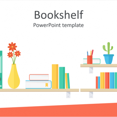 Bookshelf PowerPoint Template