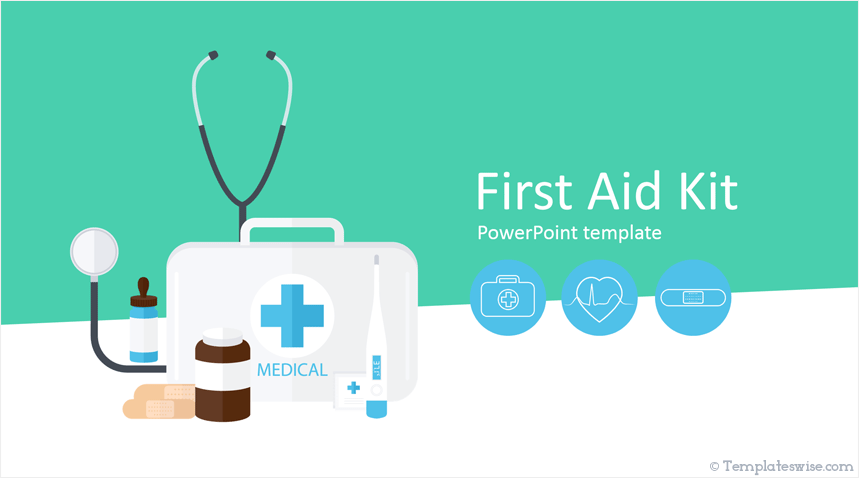 First Aid Kit Powerpoint Template Templateswise Com