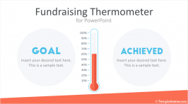 Fundraising Thermometer for PowerPoint