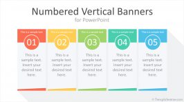 Numbered Vertical Banners for PowerPoint