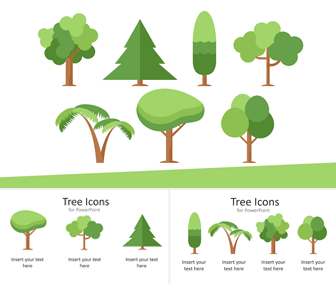 Tree Icons for PowerPoint