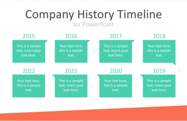 Company History Timeline for PowerPoint