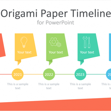 Origami Paper Timeline for PowerPoint