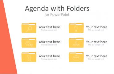 PowerPoint Agenda with Folders