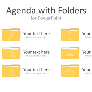 PowerPoint Agenda with Folders